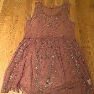 Free People Pink Sheer Dress